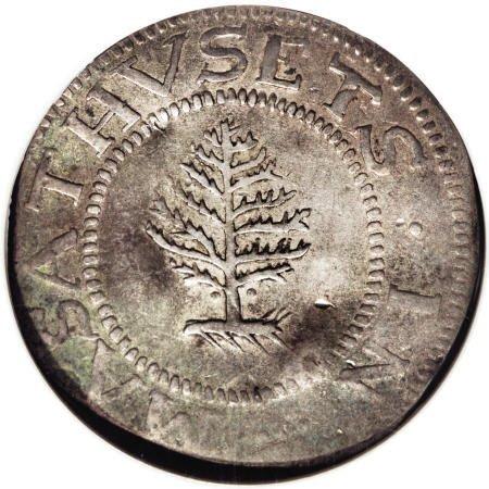 3: 1652<SHILNG Pine Tree Shilling, Large Planchet