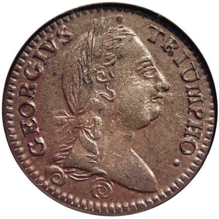 18: 1783 TOKEN Georgivs Triumpho Token MS62 Brown