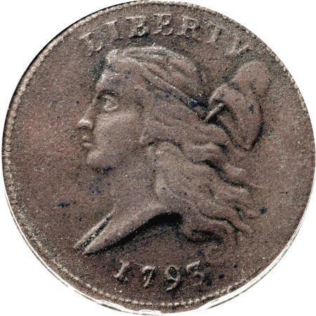 24: 1793 1/2 C VF20 PCGS.