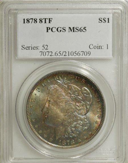 1279: 1878 8TF $1 MS65 PCGS.
