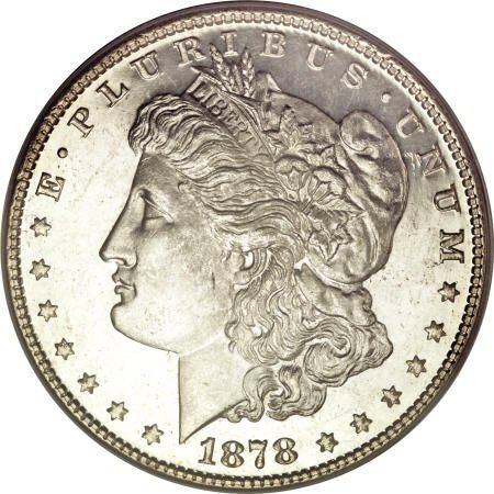 1280: 1878 7/8TF $1 Weak MS64 Deep Mirror Prooflike