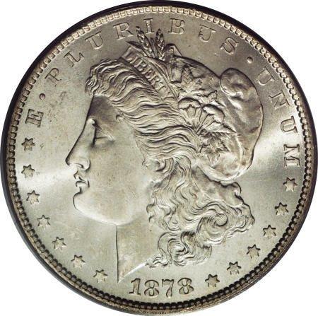 1282: 1878 7TF $1 Reverse of 1879 MS64 PCGS.