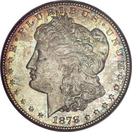 1286: 1878-S $1 MS67 PCGS.