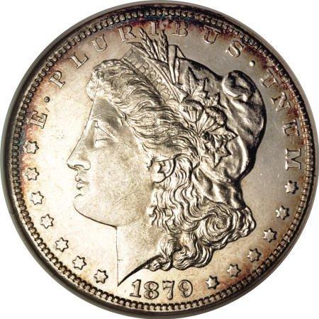 1289: 1879-CC $1 AU58 NGC.