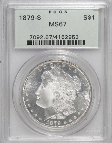 1297: 1879-S $1 MS67 PCGS.
