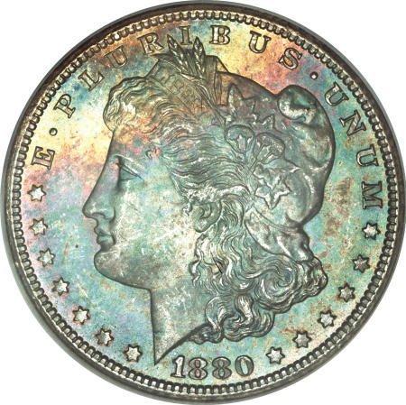 1302: 1880-CC $1 MS66 <S NGC.