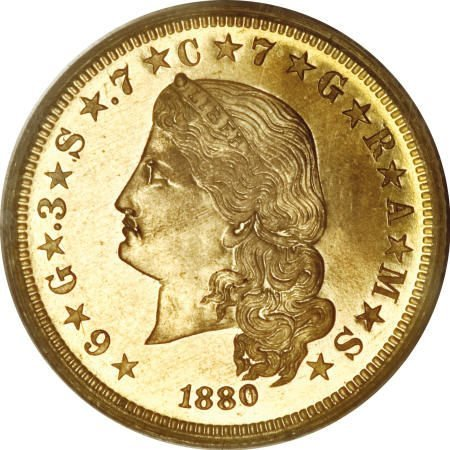 1960: 1880 $4 Flowing Hair, Judd-1657, Pollock-1857,