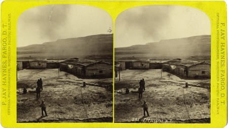 78084: Stereoview of Fort Claggert, Montana Territory