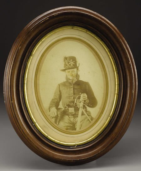72004: Large Albumen Photo- a Well-Armed Union Soldier