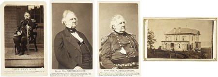 72010: Group of Four Civil War Winfield Scott CDVs