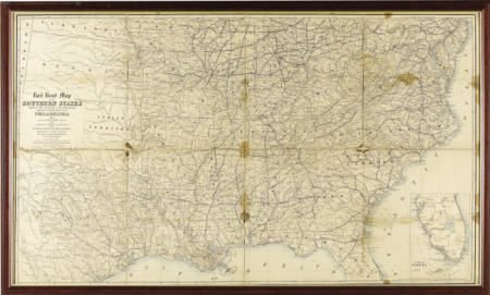72011: 1862 Railroad Map of the Southern States