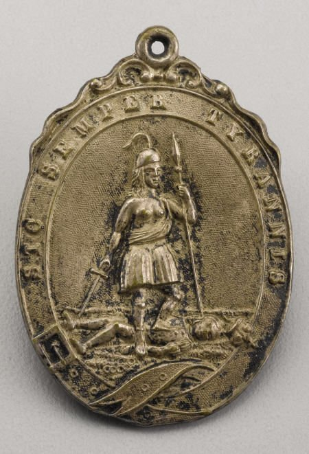 72016: Silver VA State Seal  Medallion ex John Ford