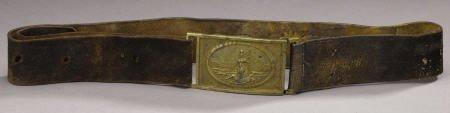 72019: Brass Virginia State Seal Rectangular Sword Belt