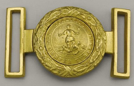 72023: Two-Piece Virginia Militia Officer's Belt Plate