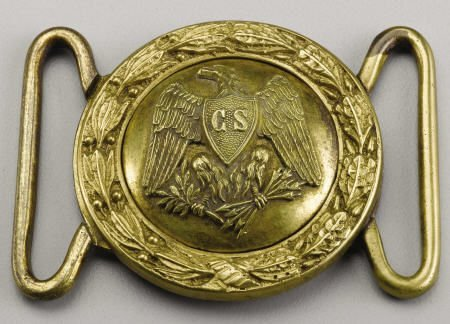 72024: Rare Confederate Officer's CS in Shield Belt