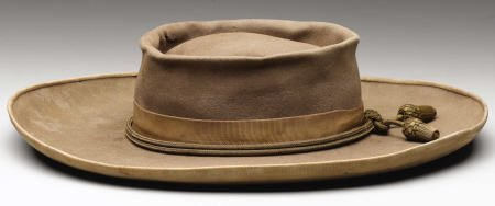 72051: Confederate Officer's Slouch Hat With Gold Cord