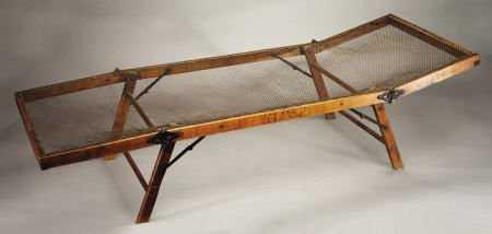 72320: Civil War Officer's Folding Wooden Camp Cot