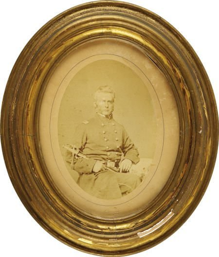 72558: Large Albumen Image of Union Field Officer.