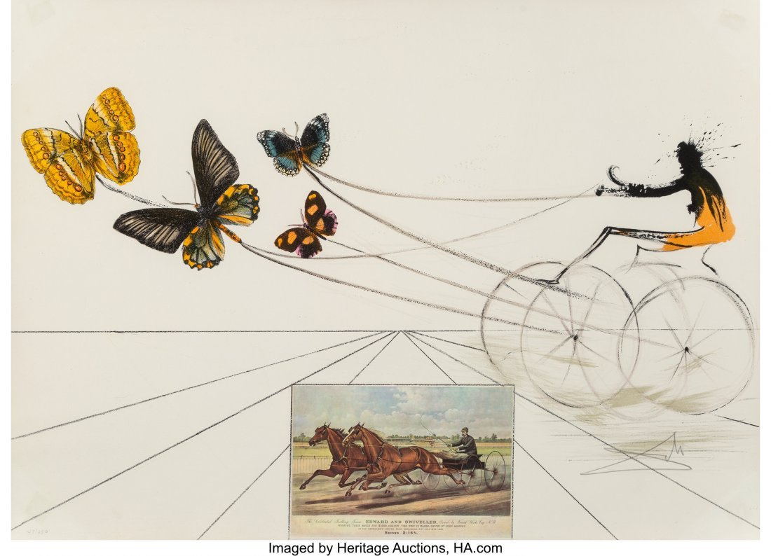 40023: Salvador Dalí (1904-1989) American Trotti