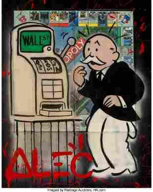 66046: Alec Monopoly (b. 1986) Slot Monopoly, 2014 Acry