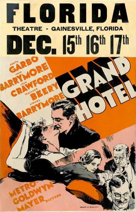 "28001: Grand Hotel (MGM, 1932). Window Card (14"" X"