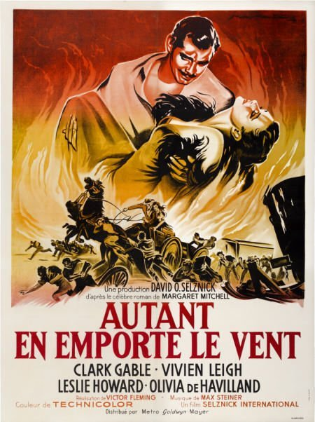 28005: Gone with the Wind (MGM, R-1954). French Grande