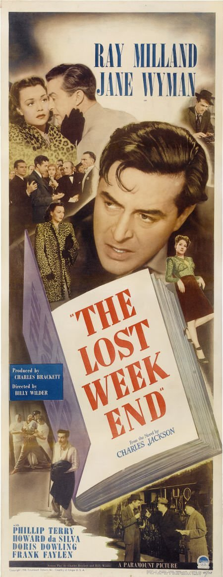 """28008: The Lost Weekend (Paramount, 1945). Insert (14"""""""
