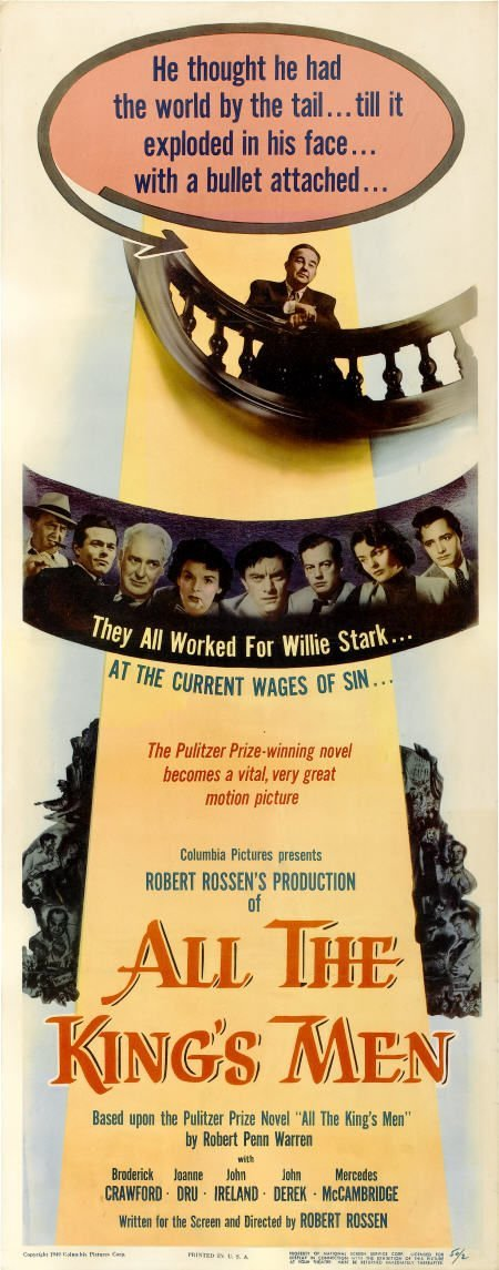 "28010: All the King's Men (Columbia, 1949). Insert (14"""