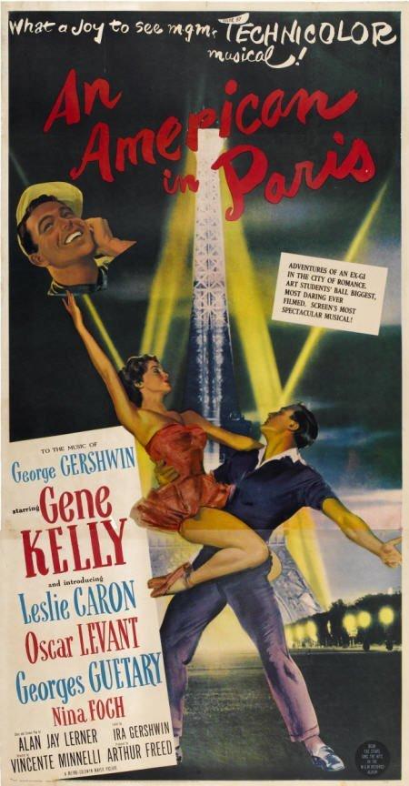 28011: An American in Paris (MGM, 1951). Three Sheet