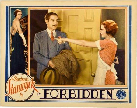 "28020: Forbidden (Columbia, 1932). Lobby Card (11"" X"