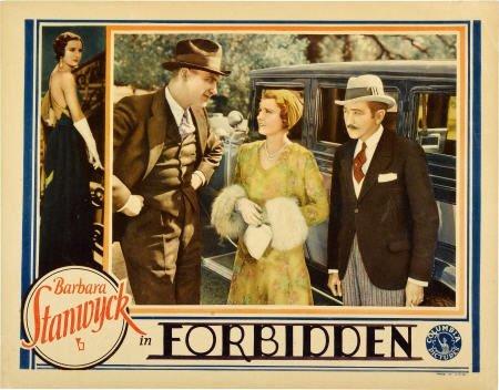 28022: Forbidden (Columbia, 1932). Lobby