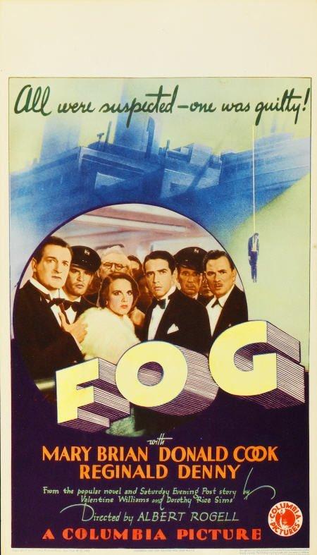 "28124: Fog (Columbia, 1933). Midget Window Card (8"" X"