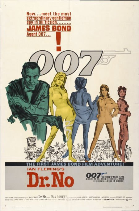 """28651: Dr. No (United Artists, 1962). One Sheet (27"""" X"""