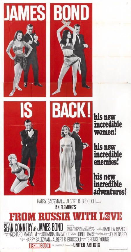 28652: From Russia with Love (United Artists, 1964).