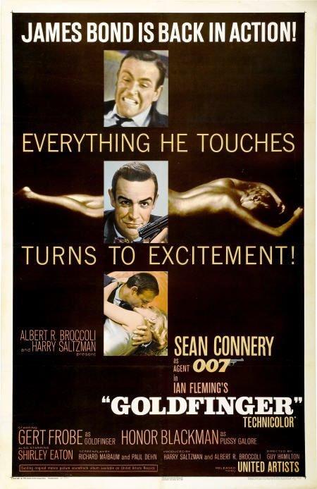 28655: Goldfinger (United Artists, 1964). One Sheet