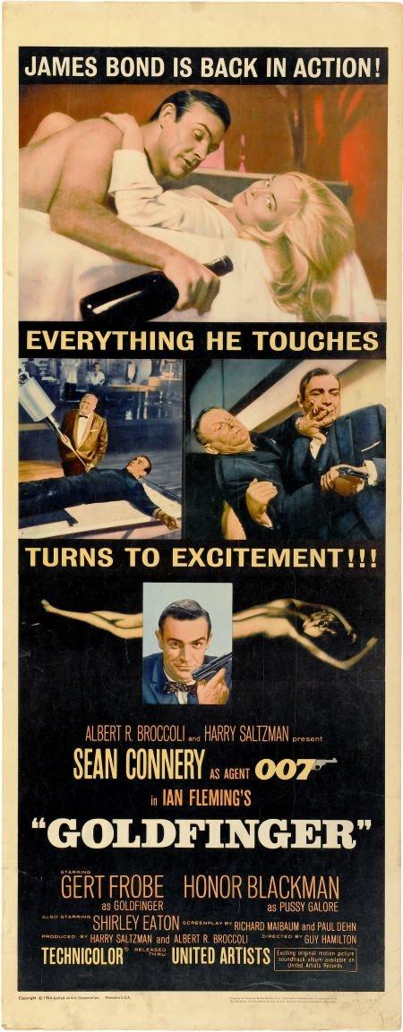 "28659: Goldfinger (United Artists, 1964). Insert (14"" X"