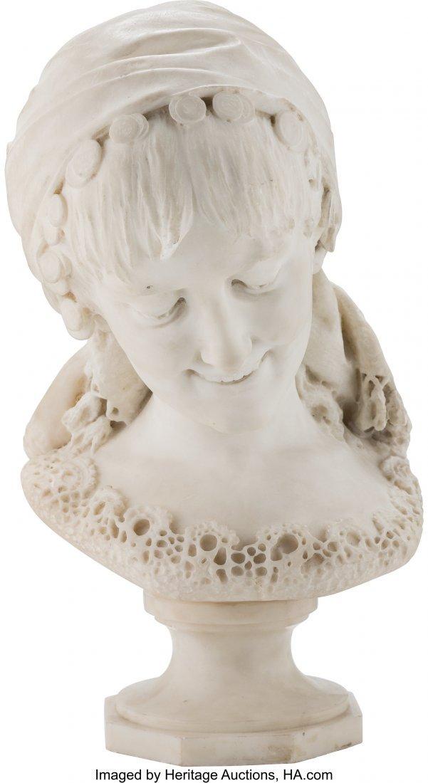 28220: Angelo Bottinelli (Italian, 1854-1890) Bust of a
