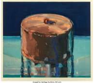 65135: Wayne Thiebaud (b. 1920) Dark Cake, 1983 Woodcut