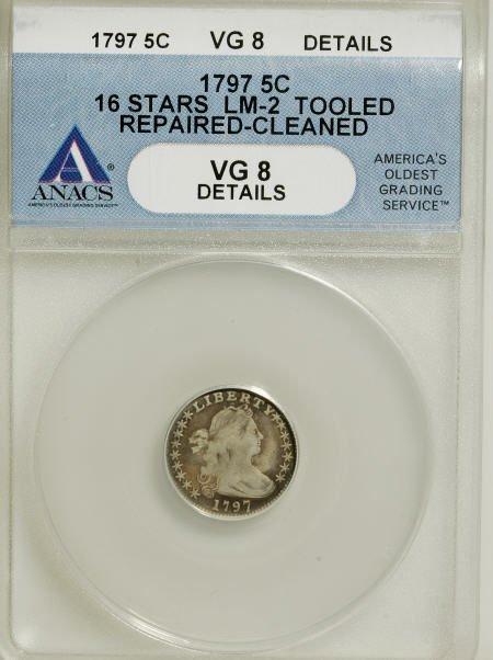 4: 1797 H10C 16 Stars--Tooled, Repaired,