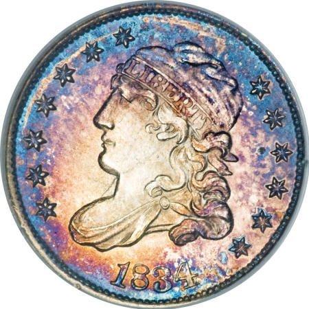 9: 1834 H10C MS65 NGC.