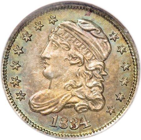 10: 1834 H10C MS67 NGC.