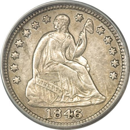 23: 1846 H10C--Cleaned--ANACS. XF45 Details.