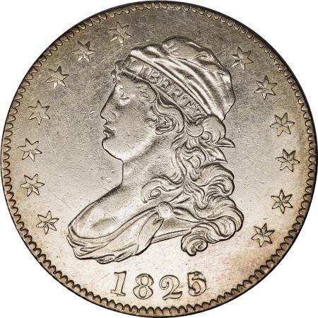 189: 1825/2 25C AU53 NGC.