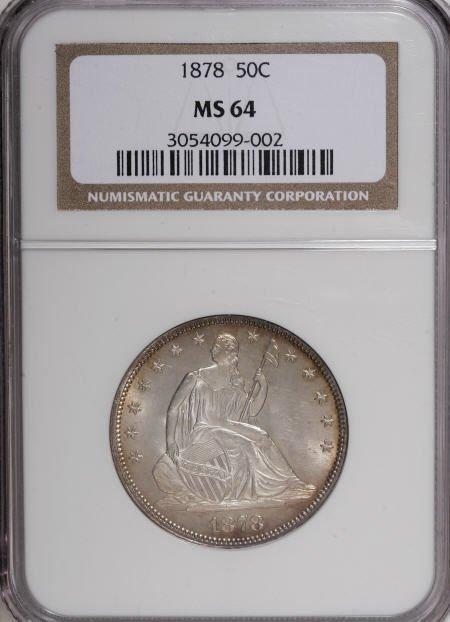 555: 1878 50C MS64 NGC.