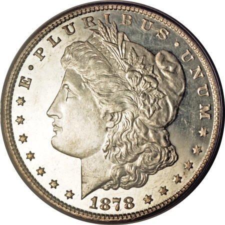 2175: 1878 8TF $1 MS65 Deep Mirror Prooflike PCGS.