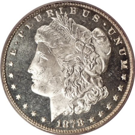 2177: 1878 7/8TF $1 Weak MS64 Deep Mirror Prooflike