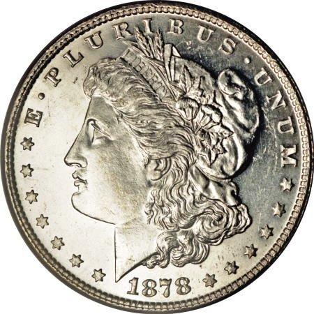 2178: 1878 7TF $1 Reverse of 1878 MS65 Deep Mirror