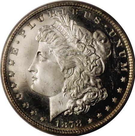 2179: 1878 7TF $1 Reverse of 1879 MS65 Deep Mirror