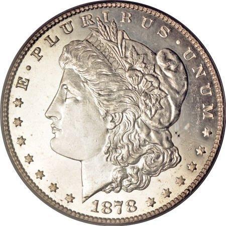 2181: 1878-S $1 MS65 Deep Mirror Prooflike PCGS.