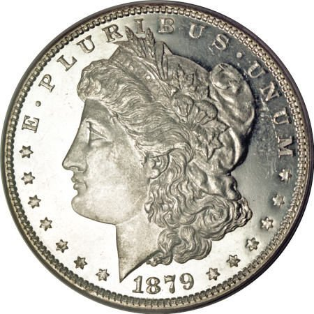 2182: 1879 $1 MS65 Deep Mirror Prooflike PCGS.